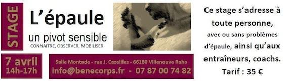 Stages et formations : L'épaule Benecorps Perpignan
