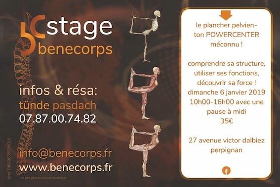 Stages et formations : le plancher pelvien Benecorps Perpignan